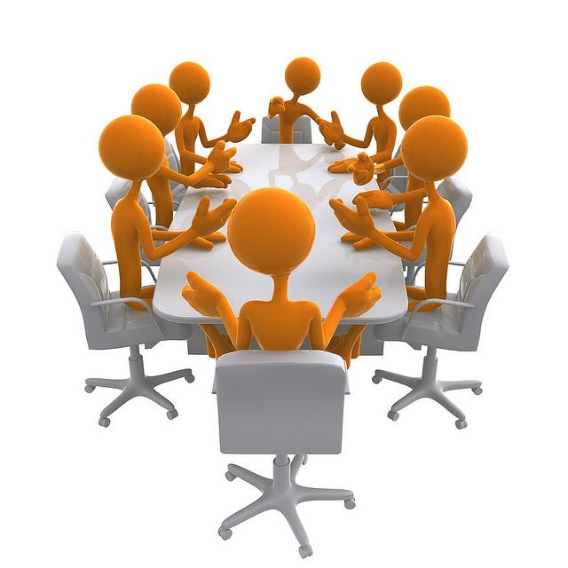 Personnes en réunion