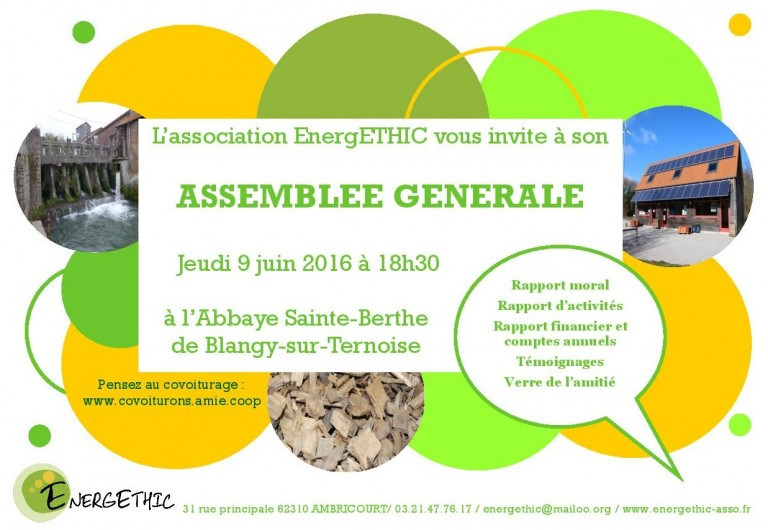 Invitation AG 2016 EnergETHIC
