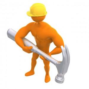 Travailleur avec marteau