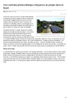 greenunivers.com-Une centrale photovoltaïque citoyenne en projet dans le Nord